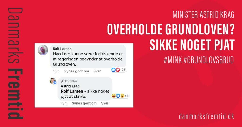 Astrid Krag Overholde Grundloven Sikke Noget Pjat