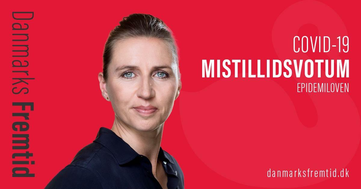 Covid-19 Mette Frederiksen mistillidsvotum Epidemiloven