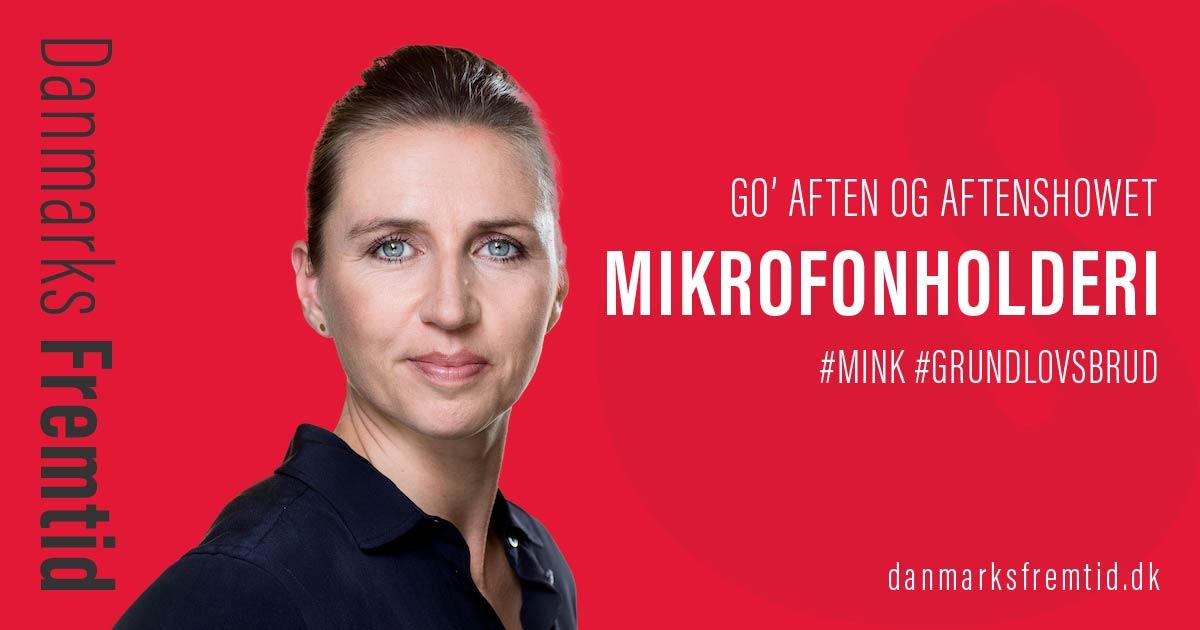 Mette Frederiksen Go' Aften Live Aftenshowet