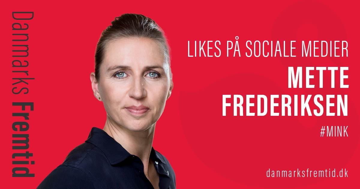 Mink Mette Frederiksen Likes Sociale Medier