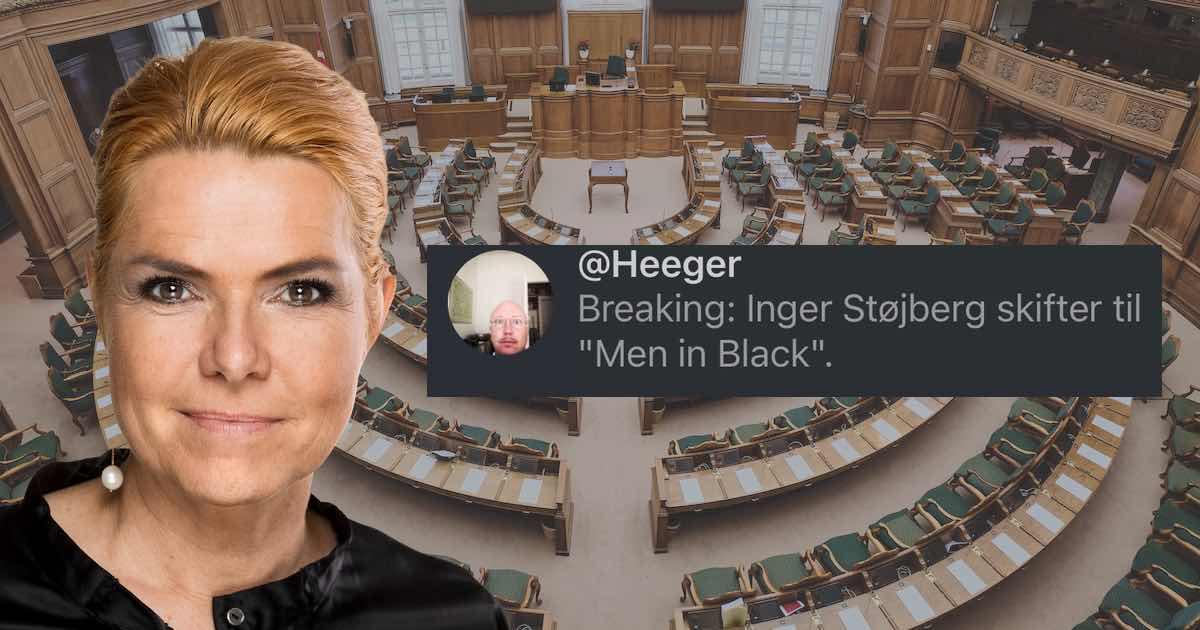 Berlingske kæder Støjberg sammen med Men In Black