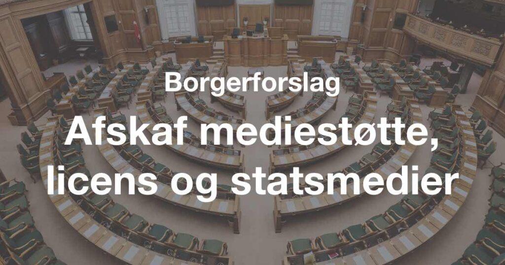Borgerforslag: Afskaf mediestøtte, licens og statsmedier