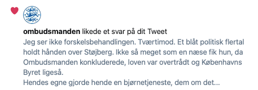 Ombudsmand liker tweet