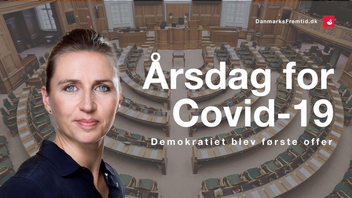 årsdag covid-19 nedlukning - Danmarks Fremtid