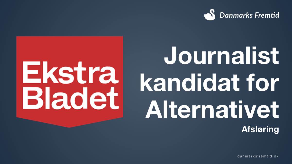 Journalist fra Ekstra Bladet afsløret kandidat for Alternativet