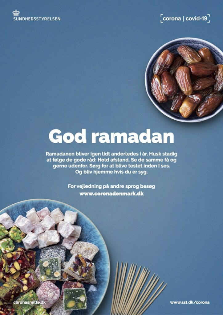 Sundhedsstyrelses Ramadan plakat