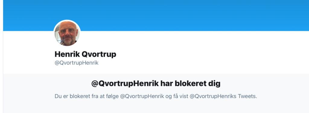 Blokeret af Henrik Qvortrup
