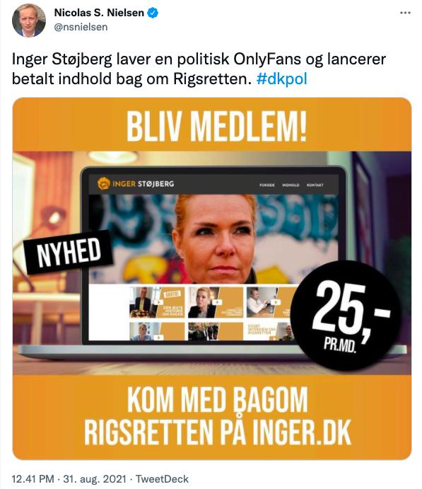Nicolas S Nielsen - Støjberg - OnlyFans