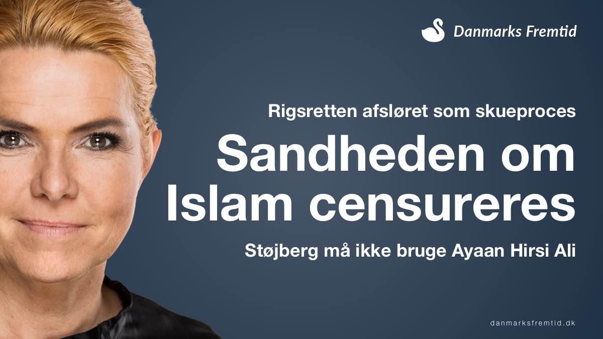 Støjberg afslører skueproces - Ayaan Hirsi Ali må ikke vidne