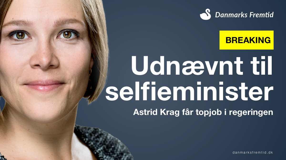 Astrid Krag udnævnt til selfieminister