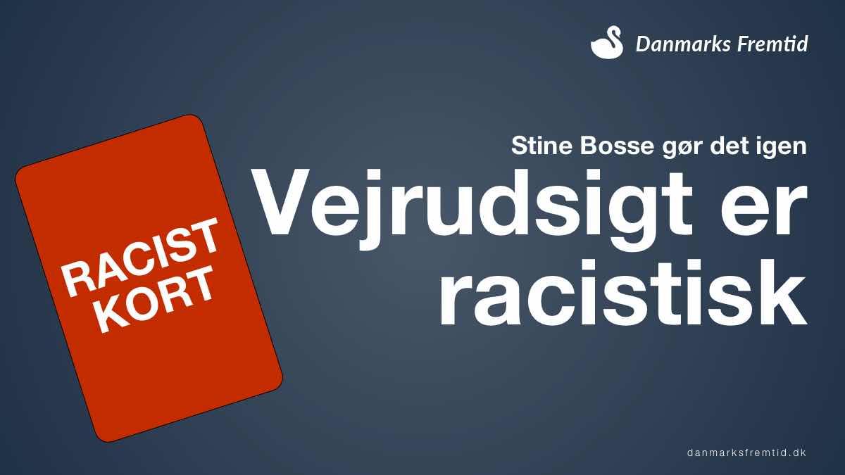 Stine Bosse Vejrudsigt er racistisk
